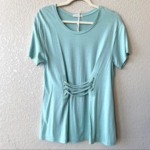 NWT Cotton On T-Shirt Aqua Blue Color